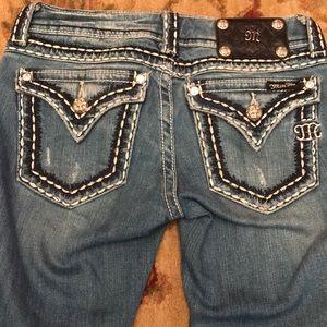 Miss me bootcut vintage wash jeans rhinestone 25